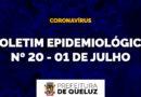 Boletim Epidemiológico da COVID-19 em Queluz | Nº 20 – 01 de julho de 2020;
