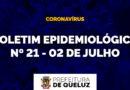 Boletim Epidemiológico da COVID-19 em Queluz | Nº 21 – 02 de julho de 2020;