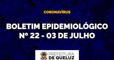 Boletim Epidemiológico da COVID-19 em Queluz | Nº 22 – 03 de julho de 2020;