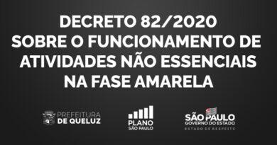 Decreto 82/2020 – Funcionamento de Atividades Não Essenciais na Fase Amarela